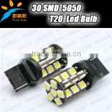 30pcs 5050SMD auto car led bulbs canbus T20 led fog lamp tail light parking stop back up lights