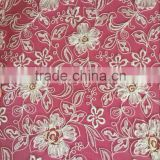 3D applique flower lace embroidery fabric design with handwork