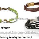 Bracelets Making Braided Leather Cord - 0.5mm / 1mm / 1.5mm / 2 mm / 2.5mm / 3 mm from Borg Export