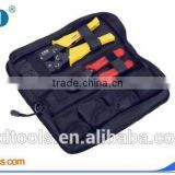 Terminal crimping plier and cable cutter combination tool bag,LS-K04WF Mini tool kit set