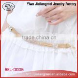 Yiwu Fashion Gold Rhinestone Body Jewelry Women Belly Waist Chain Belt
