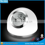 White&Colorful Brightness Control LED Color Changing Dimmer Switch Table Lamp with Alarm Clock