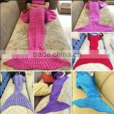 New design Knitting Mermaid Tail Blanket / sofa mermaid blanket / Warm Soft Sleep blanket