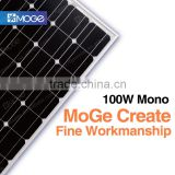 Moge A grade high efficiency light weight solar panel mono 100w 150w 200w roof tiles bought in china with good price