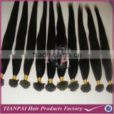 Natural Hair Extensions, Kerain Tip Hair, Pre-bonded Hair Extension Nail Falt Tip Hair Extensions U Tip Hair Color Can be Custom