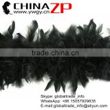 Leading Supplier CHINAZP Factory Wholesale 60 Gram Weight in Stock Dyed Black Turkey Chandelle Feathers Boas