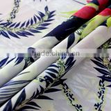Bright in colour digital printing polyester white satin fabric for curtain Colors can be customized
