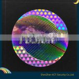 Anti-Counterfeit,Durable,Holographic Feature and PET, Material 3d security custom hologram stickers