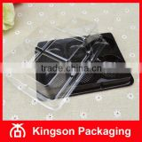 6 Compartment Plastic Square Container with Lid for Cookie Bakery Pastry