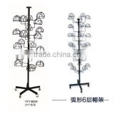 3 sides White Metal garment rack movable cloth display stand garment display racks with wheels
