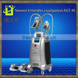 Cryolipolysis salon machine,4 treatment heads,2 handles can work at the same time,for f