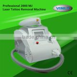 Factory supply professional 2000 mj strong power Q switch nd yag laser tattoo removal machine