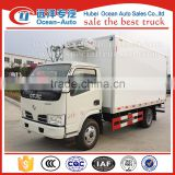 Dongfeng DFAC 3 TON mini refrigeration unit 4x2 food refrigerator van truck for sale
