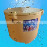 Hot sales plastic polyethylene large cooler box ,ice box for fishing outdoor ice chest(ZQ-460)