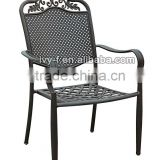 cast aluminum metal chair cafe/stackable chair/restaurant chair cheap