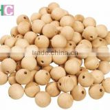 wooden beads, natural wooden beads, eco-friendly wooden beads, beech wood beads, beads with hole for crafting