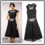 New Dress Ladies Fashion Dress Simple Long Dress