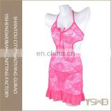 Pink lace dress style newest fashion sexy hot japanese girl lingerie