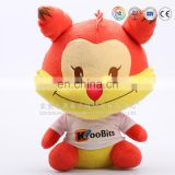 Customized plush cartoon cat kiss cartoon characters