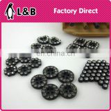 wholesale 20L black plastic with crystal stone lady shirt button
