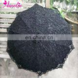 High Skilled Handmade Battenburg Lace Parasol Lolita Black Lace Umbrella Japanese Wedding Souvenirs