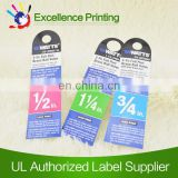 adhesive paper clothing tag