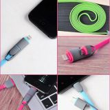 2 In 1 Micro App USB Elbow Cable 1m Metal Type C USB2.0 90 Degree Elbow Data Cable Connector 2A