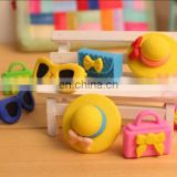 3D Erasers Top Hat/Glasses/Purse Girl's Eraser