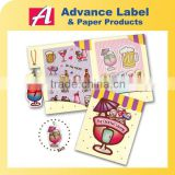 The Cocktail Lounge Mini memo Set 3D Puffy Mobile Phone Strap Die cut shape Sticky memo pad set