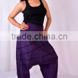 Aladdin Genie Fisherman man Pants Trouser jumpsuit Yoga Boho Gypsy Indian women Loose Pants Funky Chunky Hip Hop Harem Pants