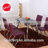 newest fashional Glass dining table,space saving