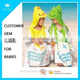 Customized Design Cartoon Printing Pure cotton Baby kids Children Hood Bathrobes                                                                         Quality Choice