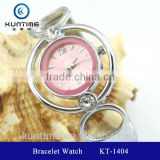 ladies crystal bracelet watch glass face bangle watches for girls japan movt quartz watch stainless steel back