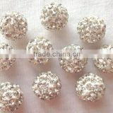 2016 Hot Sales shamballa crystal rhinestone beads Rhinestone crystal pave ball beads for bracelets
