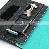 online wholesale fashion comfortale healthy blue 2.5 mm wool felt case for 4ipad with mini notebook earing pen holder in side