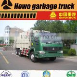 16m3 HOWO rear loader garbage disposal truck