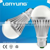 New design good heat dissipation energy saving led bulb with die cast aluminium housing & PC cover