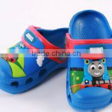 2015 new fashion cute cartoon Thomas garden shoe for children sandal slippers boys and girls flat