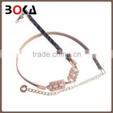 // Brand new silver chain belts for lady garment // decoration wholesale ladies new fashion belt //