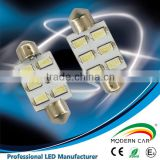 Super quality 6smd Festoon liense board light 2w car board trunk lamp SMD auto led car lamp
