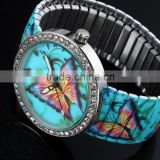 Different Dials Available Hot Selling Fancy Fashion Multicolor Lady Watch Ladies Butterfly LD137