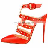 Women's 8cm 10cm 12cm Breasted Pointed Toe Slingback Stiletto High Heels Rivet Sandals Ladies' High Heel Shoes                                                                         Quality Choice