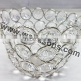 Diamond Crystal T-Light Candle Holder,Crystal Votive Holder,Decorative Candle Votive Holders Suitable for Christmas Decorations