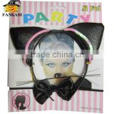 Sexy cat ear headband set fancy dress costume accessory