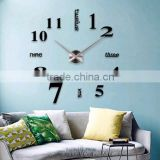 New Product Home Decor Big Size EVA Sticker Wall 3D Big Clock for Home Decorive