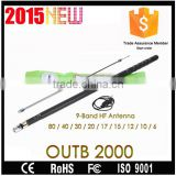 2015 Newest wireles mobile radio hf antenna OUTB 2000 9-band HF antenna 80 / 40 / 30 / 20 / 17 / 15 / 12 / 10 / 6