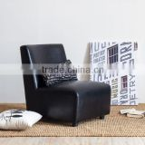 Vintage style single leather legless leisure sofa chair modern classic fabric home furniture