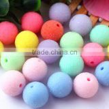 Wholesale Mixed Colorful 20mm chunky round bubblegum ball resin pastel seed rhinestone berry crystal loose beads for kids