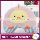 2014 hot sale Cute little yellow chicken lovers pillow plush toy doll creative King doll birthday present for girls
