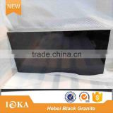Polished China Hebei Black Granite Flooring Tiles